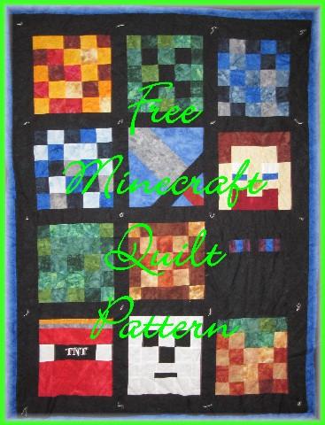 Free Minecraft Quilt Pattern