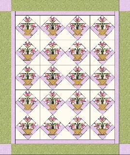 Basket quilt, free quilt pattern