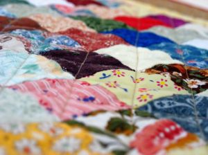 How to make a patchwork quilt.