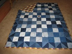 How to make a denim quilt